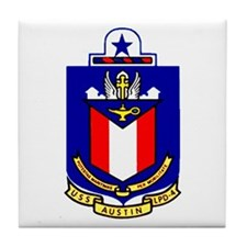 USS Austin LPD 4 Tile Coaster