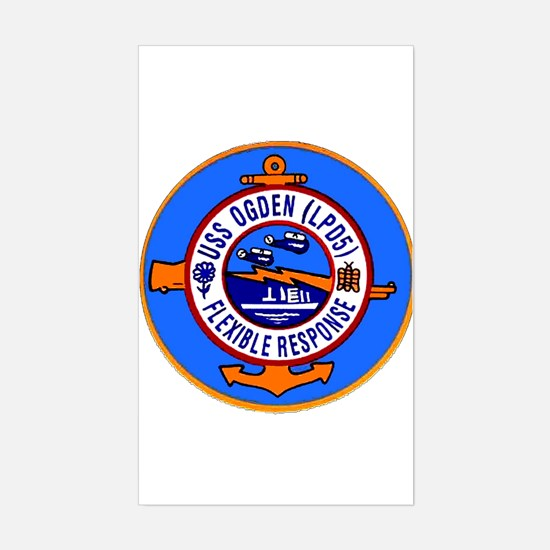 USS Ogden LPD 5 Rectangle Decal