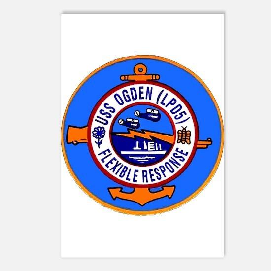 USS Ogden LPD 5 Postcards (Package of 8)
