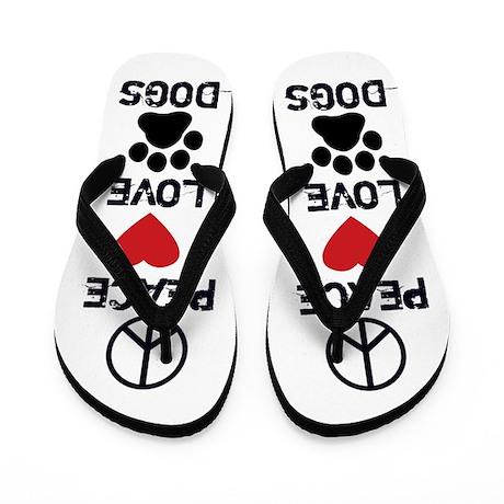 Peace Love Dogs Flip Flops