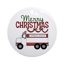 EMT/Paramedics Christmas Ornament (Round)