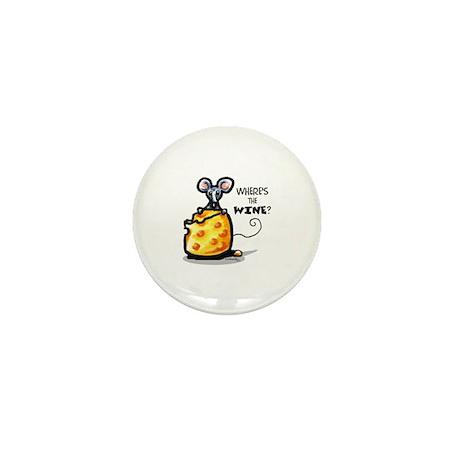 Funny Wine Cheese Mini Button
