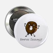 """Vampire doughnut funny 2.25"""" Button"""