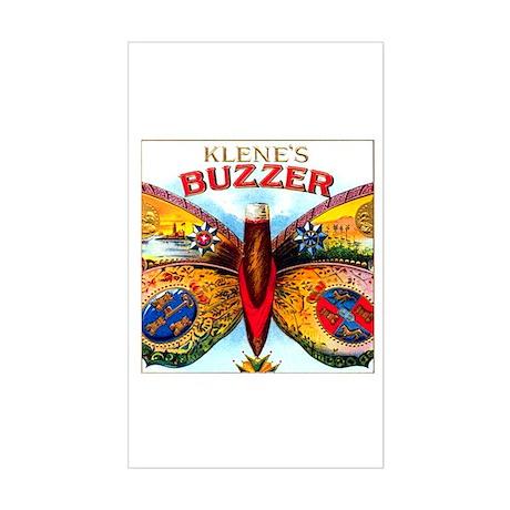 Buzzer Butterfly Cigar Label Sticker (Rectangle)