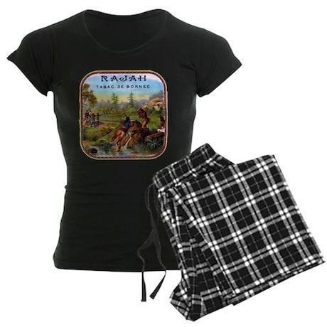 Rajah Cigar Label Women's Dark Pajamas