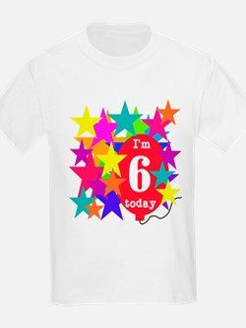 Lotsa Stars 6th Birthday Kids T-Shirt