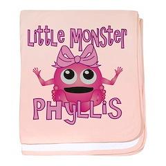 Little Monster Phyllis baby blanket