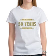 Stylish 50th Wedding Anniversary Tee