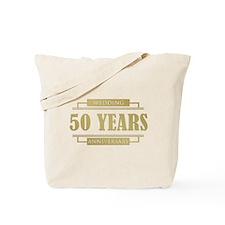 Stylish 50th Wedding Anniversary Tote Bag