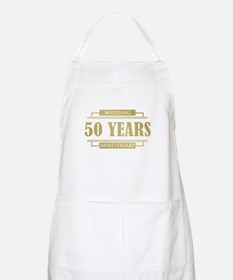Stylish 50th Wedding Anniversary Apron