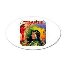 Dante Devil Cigar Label 22x14 Oval Wall Peel