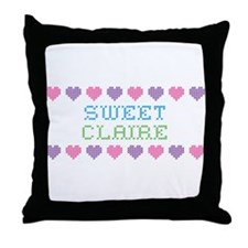 Sweet CLAIRE Throw Pillow