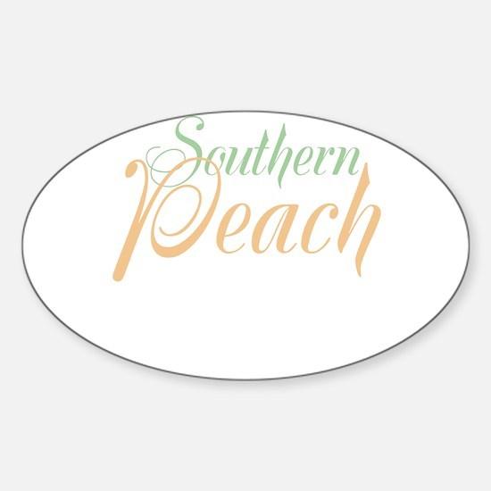 Southern Peach Sticker (Oval)