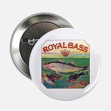 "Royal Bass Cigar Label 2.25"" Button"