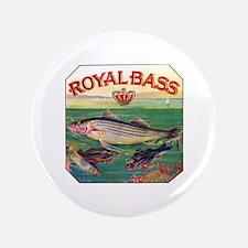 "Royal Bass Cigar Label 3.5"" Button"