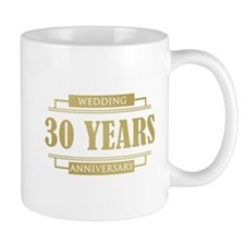 Stylish 30th Wedding Anniversary Mug