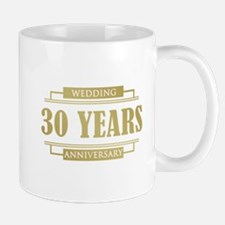 Stylish 30th Wedding Anniversary Mug