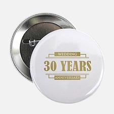 "Stylish 30th Wedding Anniversary 2.25"" Button"