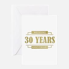 Stylish 30th Wedding Anniversary Greeting Card