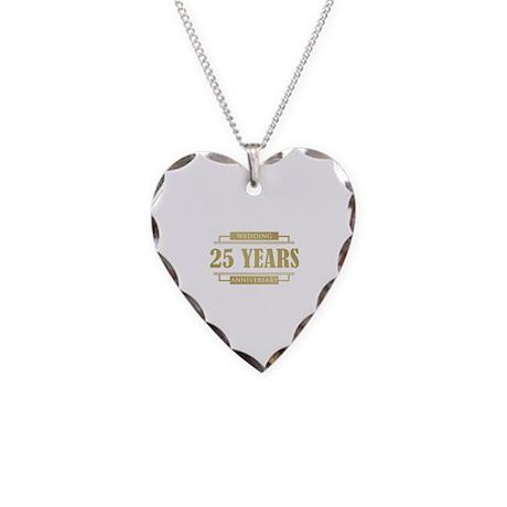 Stylish 25th Wedding Anniversary Necklace Heart Ch