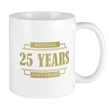 Stylish 25th Wedding Anniversary Mug
