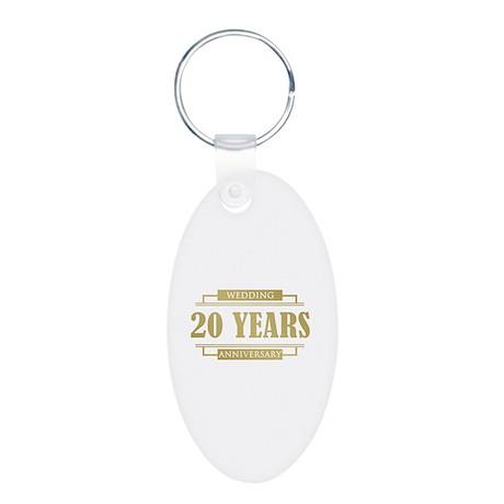 Stylish 20th Wedding Anniversary Aluminum Oval Key