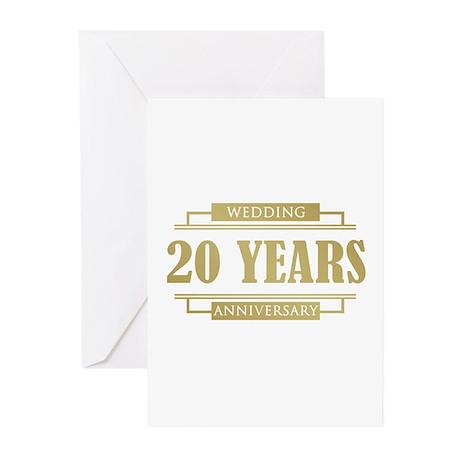 Stylish 20th Wedding Anniversary Greeting Cards (P