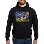 Starry / 2 German Shepherds Hoodie (dark)