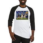 Starry / 2 German Shepherds Baseball Jersey