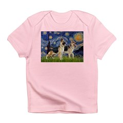 Starry / 2 German Shepherds Infant T-Shirt