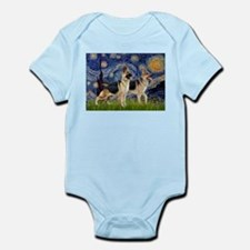 Starry / 2 German Shepherds Infant Bodysuit