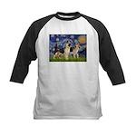 Starry / 2 German Shepherds Kids Baseball Jersey