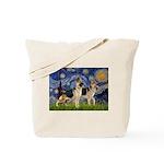Starry / 2 German Shepherds Tote Bag