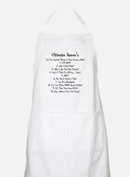 Top Ten Scariest Things to He Apron