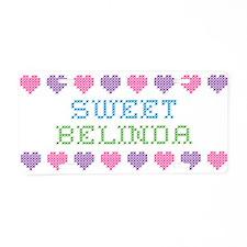 Sweet BELINDA Aluminum License Plate