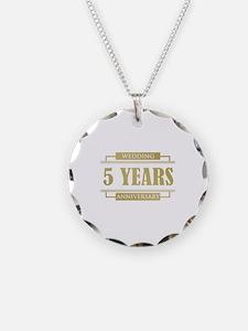 Stylish 5th Wedding Anniversary Necklace