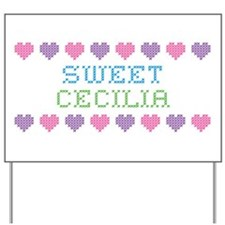Sweet CECILIA Yard Sign