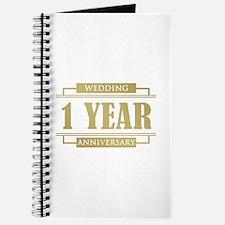Stylish 1st Wedding Anniversary Journal