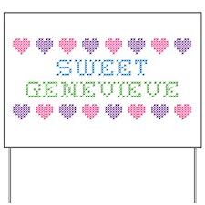 Sweet GENEVIEVE Yard Sign