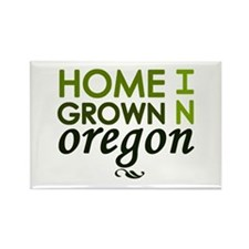 'Home Grown In Oregon' Rectangle Magnet