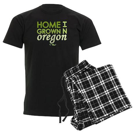 'Home Grown In Oregon' Men's Dark Pajamas