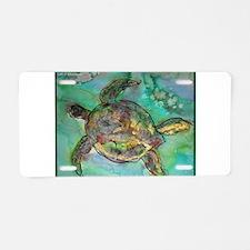 Sea Turtle, nature art, Aluminum License Plate
