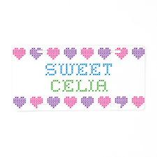 Sweet CELIA Aluminum License Plate