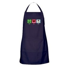 Peace Love Coffee Apron (dark)