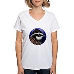 Bobwhite Quail 2 Women's V-Neck T-Shirt