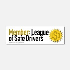 League of Safe Drivers Car Magnet 10 x 3