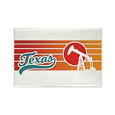 Texas Sunset Rectangle Magnet