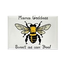 Mama Goddess Bee Rectangle Magnet