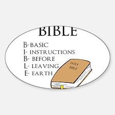 BIBLE Sticker (Oval)