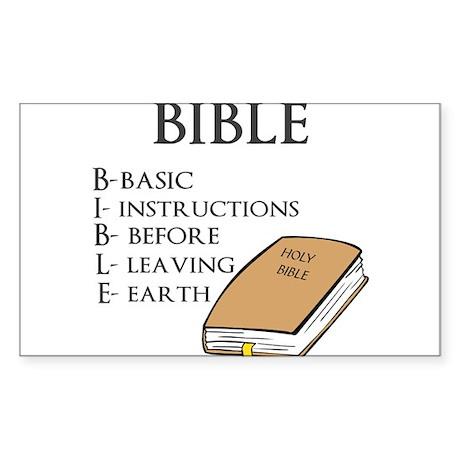 BIBLE Sticker (Rectangle)